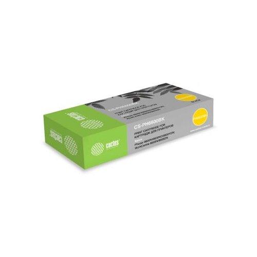 Фото - Картридж лазерный Cactus 106R02236 CS-PH6600BK черный бар.в компл. (8000стр.) для Xerox Ph 6600/WC 6605 картридж nv print 106r02236 для для xerox phaser 6600 wc6605 8000стр черный