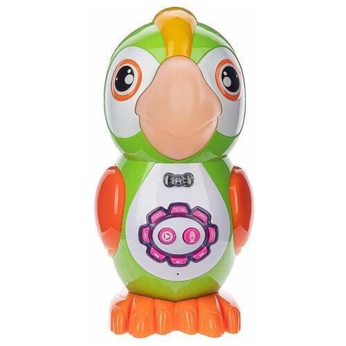 Купить Детская развивающая функциональная сенсорная игрушка PlaySmart Умный Попугай, зеленый, Play Smart, Развивающие игрушки
