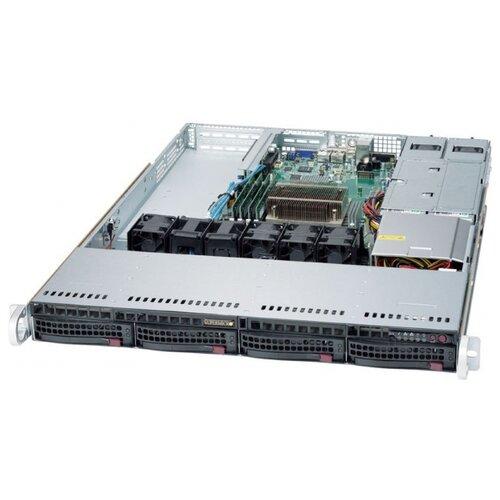 Сервер Supermicro SuperServer 5019S-WR без процессора/без ОЗУ/без накопителей/количество отсеков 3.5 hot swap: 4/2 x 500 Вт сервер supermicro superserver 5019s wr без процессора без озу без накопителей количество отсеков 3 5 hot swap 4 2 x 500 вт