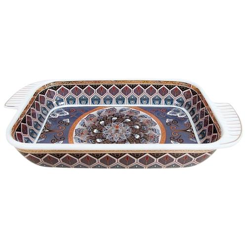Коралл Блюдо-шубница Узор на сером 900 мл серый