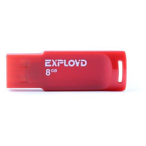 Фото - Флешка EXPLOYD 560 8GB red usb flash drive 8gb exployd 560 red ex 8gb 560 red