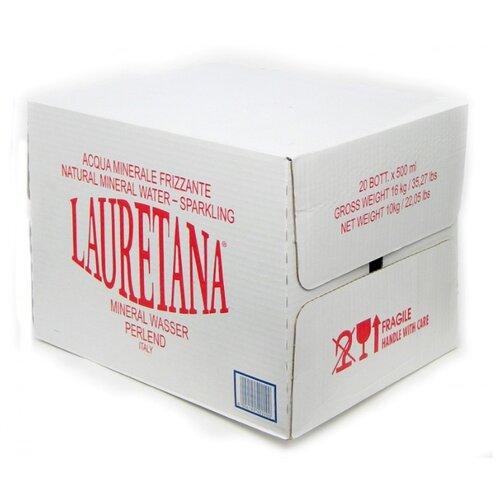 Вода минеральная Lauretana газированная, стекло, 20 шт. по 0.5 л