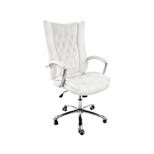 Фото - Компьютерное кресло Woodville Blant офисное, обивка: искусственная кожа, цвет: белый компьютерное кресло woodville rich офисное обивка искусственная кожа цвет коричневый