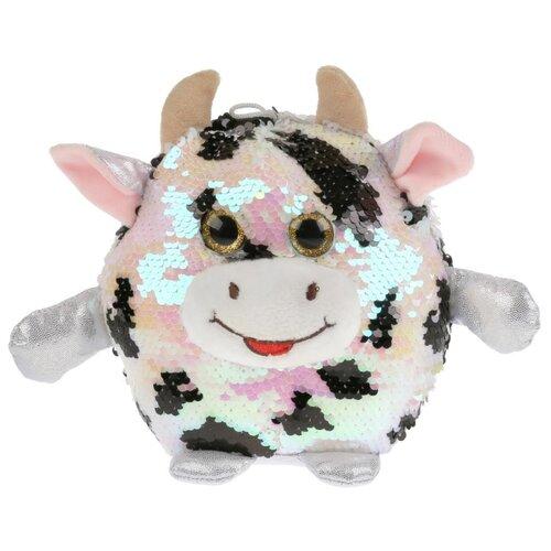 Купить Игрушка мягкая Корова из пайеток 17см, Мульти-Пульти, Мягкие игрушки