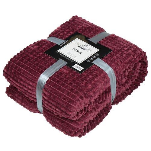 Плед Silvano Textile Скандинавия Овчинка 200 х 240 см (SQFS-200) бордовый