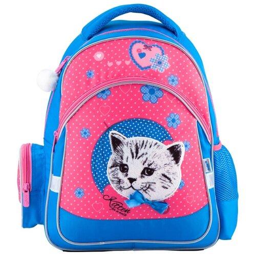 Купить Kite Рюкзак Pretty kitten K18-521S-2 голубой/розовый, Рюкзаки, ранцы