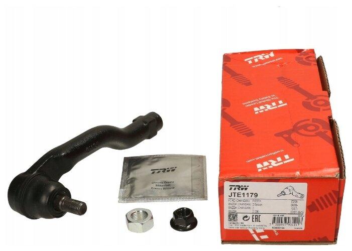 Наконечник рулевой тяги поперечная передняя левый TRW JTE1179 для Mazda 2
