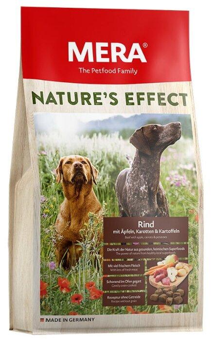 Корм для собак Mera (1 кг) Nature's Effect с говядиной, яблоком, морковкой и картошкой для взрослых собак