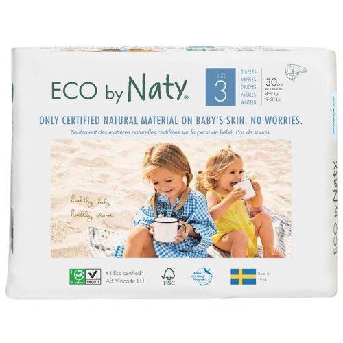 Купить Naty подгузники Eco 3 (4-9 кг) 30 шт., Подгузники