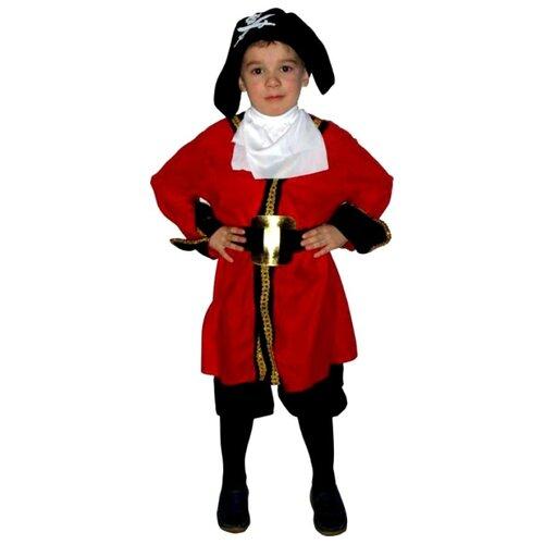 Костюм SNOWMEN Капитан хук Е40299, черный/красный, размер 7-10 лет