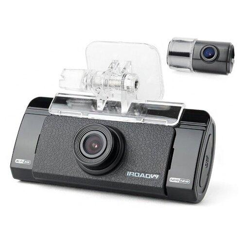 Видеорегистратор IROAD V9 с GPS, 2 камеры, GPS черный