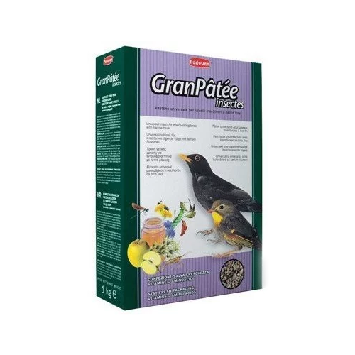 Padovan корм Granpatee Insectes для насекомоядных птиц 1000 г