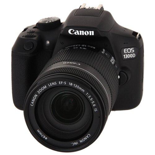 Фотоаппарат Canon EOS 1300D Kit черный EF-S 18-135mm f/3.5-5.6 IS