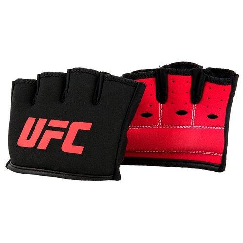 Манжета на костяшки UFC гелевая S/M черный/красный груша ufc кожаная скоростная 9х6 красный черный