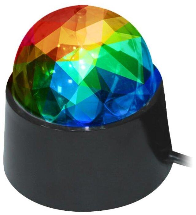 Лампа сд настольный светильник DISCO RGB 3W, шнур питания в комплекте, REV