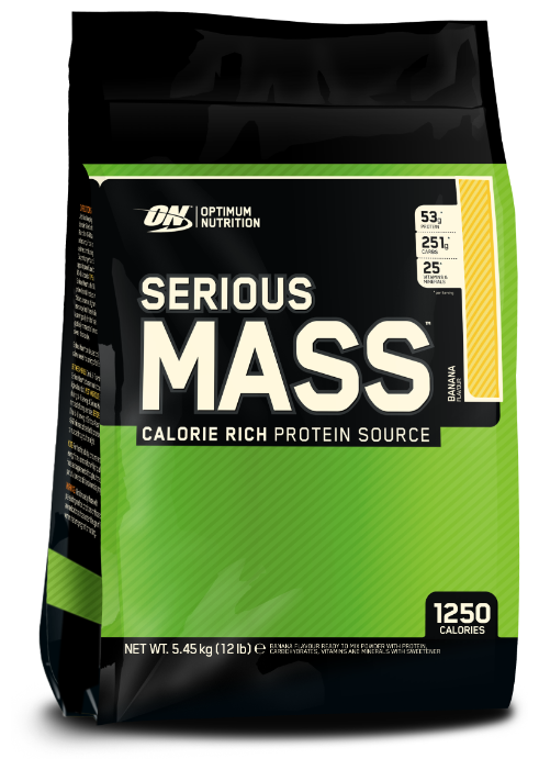 Serious Mass, 5,45 кг, Optimum Nutrition, Банан