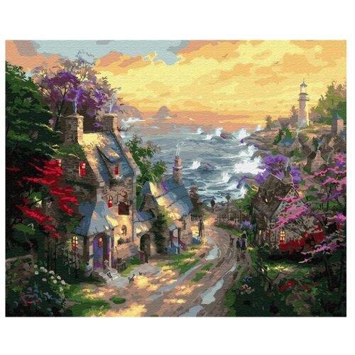 """Molly картина по номерам """"Деревня у берега моря"""" 40х50 см (KH0650)"""