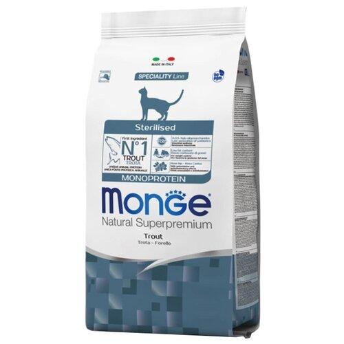 Сухой корм для стерилизованных кошек Monge Natural Superpremium, профилактика избыточного веса, с форелью 1.5 кг