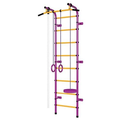 Шведская стенка Пионер С1Р пурпурный/желтый, Игровые и спортивные комплексы и горки  - купить со скидкой
