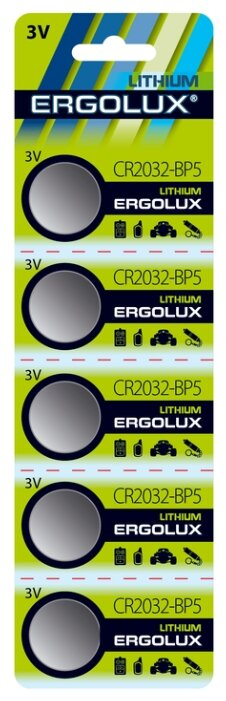 Купить Батарейка Ergolux CR2032 на Яндекс.Маркете. Характеристики, цена Батарейка Ergolux CR2032 на Яндекс.Маркете