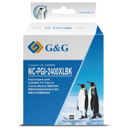 Фото - Картридж струйный G&G NC-PGI-2400XLBK PGI-2400XL BK черный (74.6мл) для Canon MAXIFY iB4040/ МВ5040/ картридж canon pgi 2400y xl 9276b001 для canon ib4040 мв5040 5340 желтый