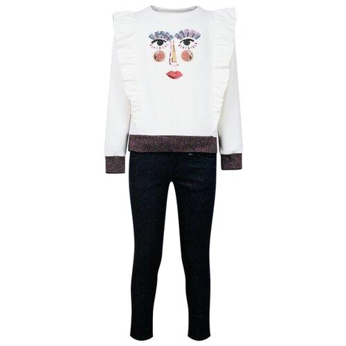 Купить Комплект одежды Simonetta размер 128, кремовый/синий, Комплекты и форма