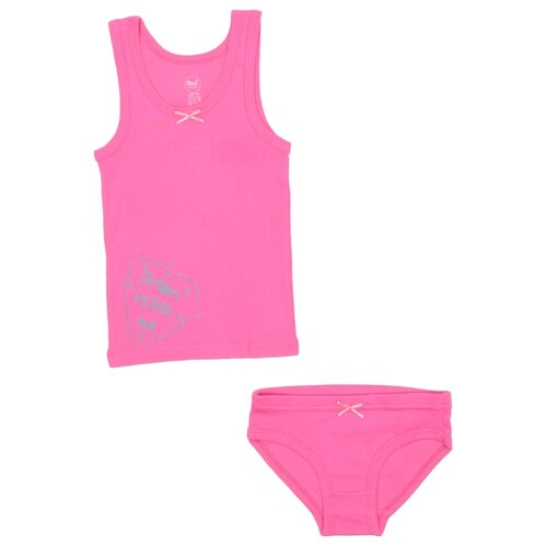 Купить Комплект нижнего белья RuZ Kids размер 116-122, фуксия, Белье и купальники