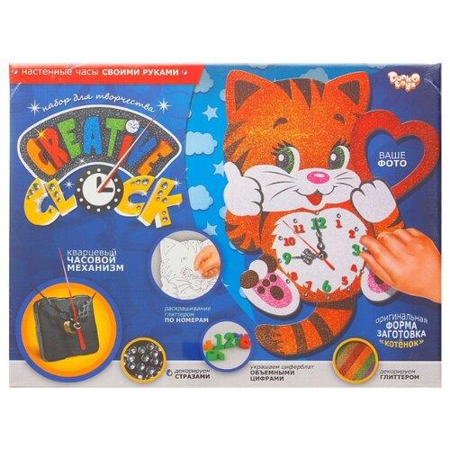 Купить Danko Toys Набор для творчества Creative clock Котенок (СС-01-01), Поделки и аппликации