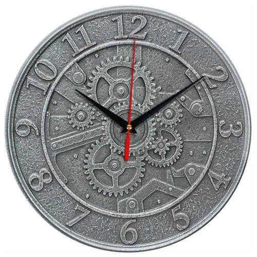 Часы настенные кварцевые Идеал Шестеренки серый виши идеал солей 30