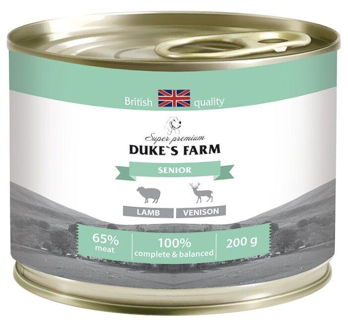 Корм для пожилых собак DUKE'S FARM ягненок, оленина