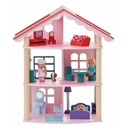 Купить PAREMO кукольный домик Роза Хутор PD215, розовый, Кукольные домики
