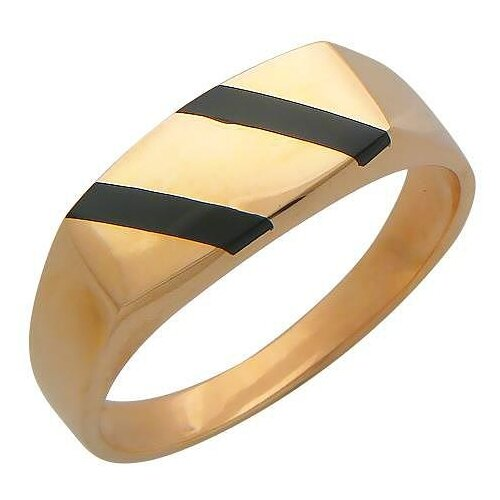 Эстет Кольцо с 2 ониксами из красного золота 01Т411490-1, размер 20 ЭСТЕТ