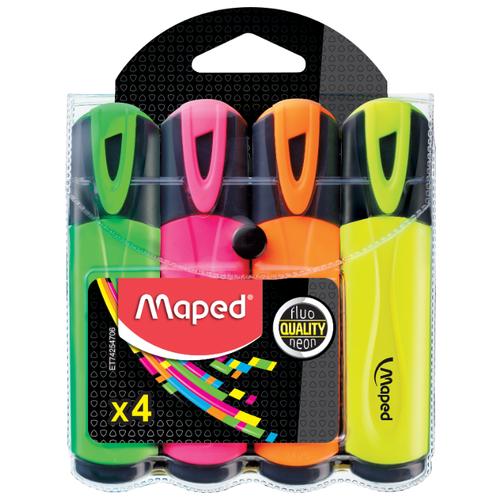 Купить Maped Набор текстовыделителей Fluo Peps, 4 шт. (742547), Маркеры