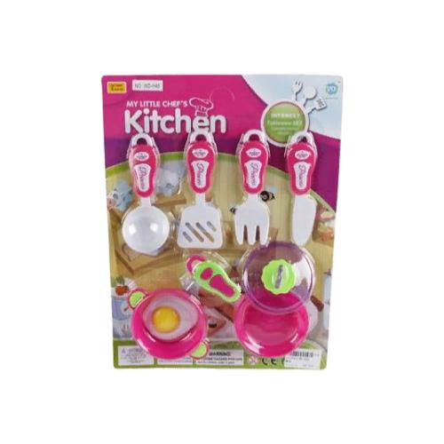 Купить Набор посуды Wanyida Toys Посуда 1372011 розовый, Игрушечная еда и посуда