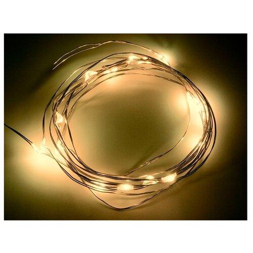 Гирлянда NEON-NIGHT Роса, 20 LED, 200 см, 20 ламп, желтый/прозрачный провод