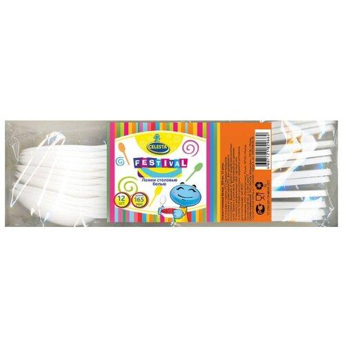Celesta Ложки одноразовые пластиковые 16,5 см (12 шт.) белый