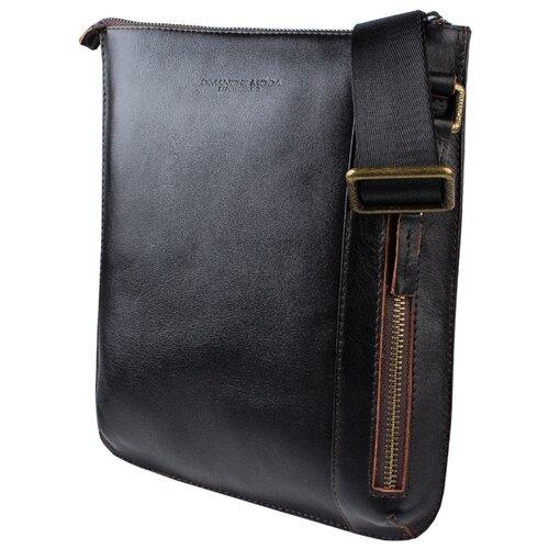 цена на Сумка планшет Dimanche Boss 247, натуральная кожа, черный/коричневый