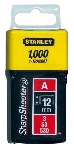 Скобы STANLEY 1-TRA208T тип 53 для степлера, 12 мм
