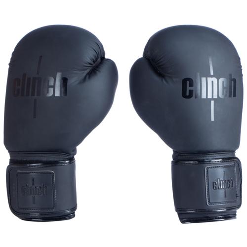 Боксерские перчатки Clinch Mist черный 10 oz боксерские перчатки venum challenger 2 0 черный белый вес 10 унций