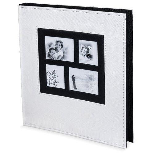 Фотоальбом BRAUBERG обложка под кожу рептилии (390713/390714), 500 фото, для формата 10 х 15, белый