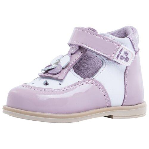 Туфли КОТОФЕЙ размер 18, 21 белый/розовый