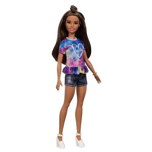 Купить Кукла Barbie Игра с модой Миниатюрная брюнетка, 28 см, FYB31, Куклы и пупсы