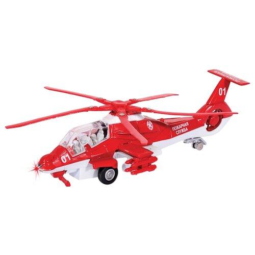 Купить Вертолет ТЕХНОПАРК Пожарная служба (CT10-036-1) 1:43 29 см красный, Машинки и техника