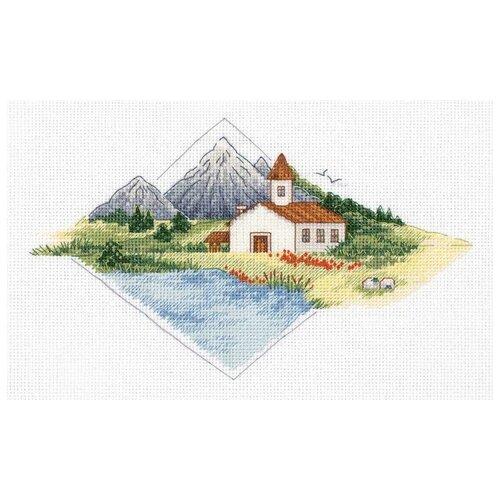 Купить Klart Набор для вышивания Дом в горах 23.5 х 15.5 см (8-361), Наборы для вышивания