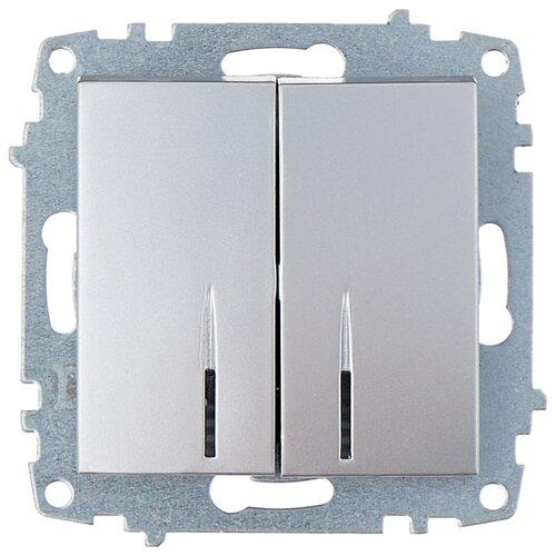 цена на Выключатель 2х1-полюсный ABB Cosmo 619-011000-203,10А, алюминиевый