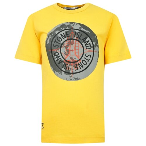 Футболка Stone Island размер 116, желтый брюки stone island размер 116 серый