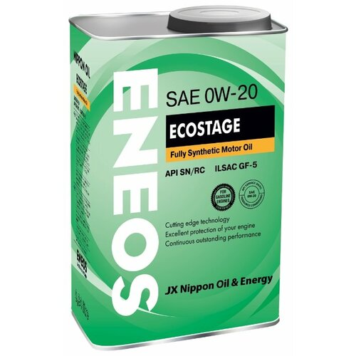 Моторное масло ENEOS Ecostage SN 0W-20 0.94 л