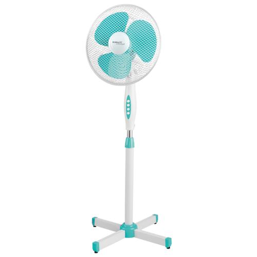 Напольный вентилятор Scarlett SC-SF111B28 белый/бирюзовый