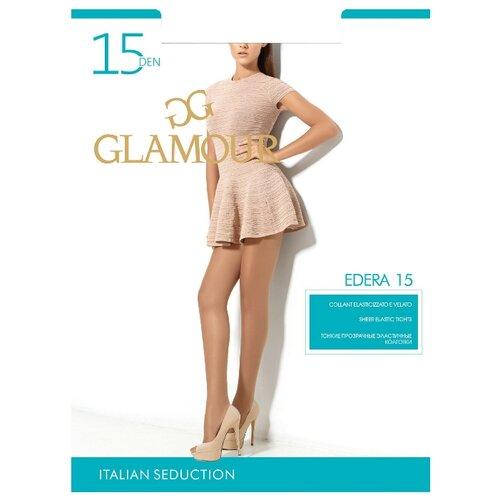 Колготки Glamour Edera 15 den, размер 4-L, nero (черный) колготки glamour thin body 4 40 den черный
