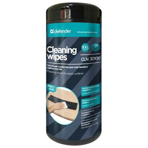 Defender Cleaning Wipes CLN 30100 влажные салфетки 110 шт. для оргтехники, для клавиатуры